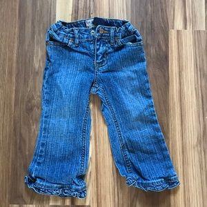 Childrens place toddler girls ruffle hem jeans
